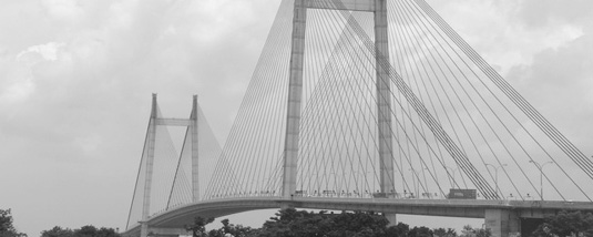 Vidyasagar Setu (Second Hooghly Bridge) at Kolkata. Courtesy: Wikipedia