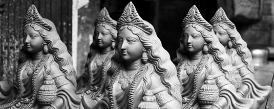 Clay Idols at Kumartuli